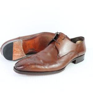 Mezlan Mens 14 M Burnished Leather Dress Shoes